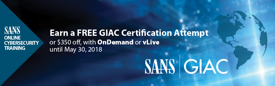 Earn a FREE GIAC Certification Attempt