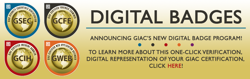 GIAC Digital Badge Program Information