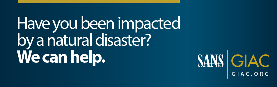 Impacted by natural disasters? We can help.