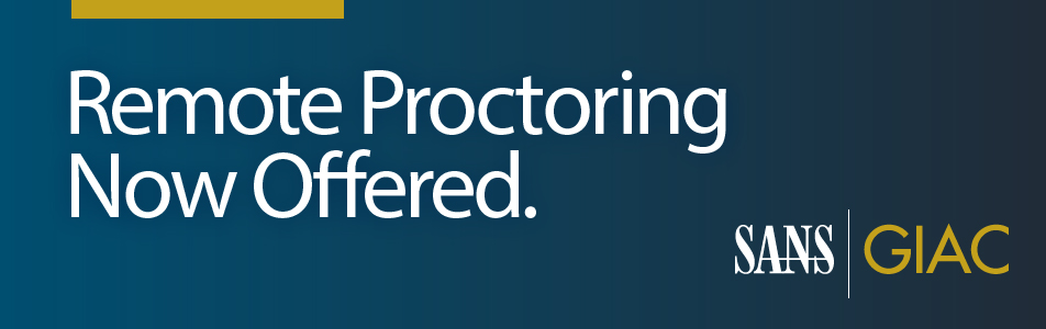 Remote Proctoring Now Available